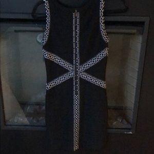 bebe Dresses - Black and White Bebe Bodycon Dress